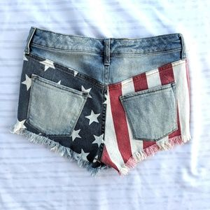 Mossimo supply 4/27 high rise shorts American flag